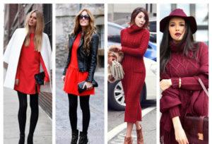 платья зимой