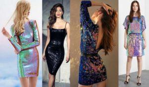 металлизированные платья на новый год 2019