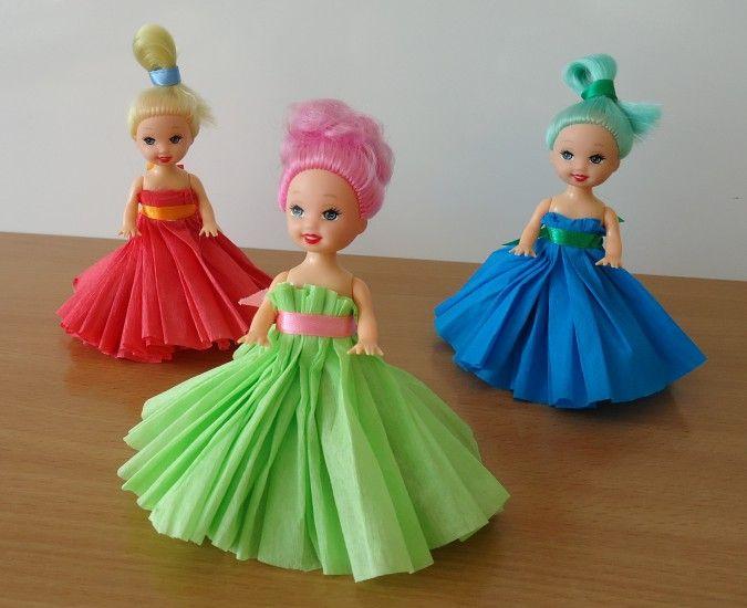 Гофрированная бумага на платья кукол