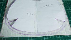пошив круглой сумки