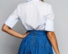 как пришить кружево к низу юбки