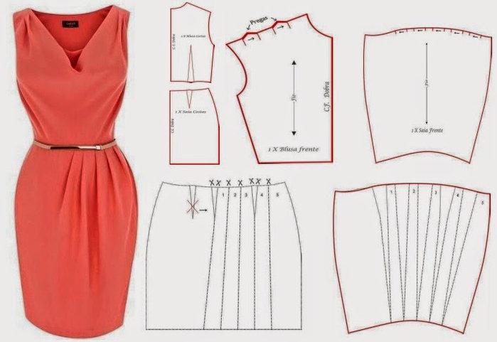 простое платье футляр