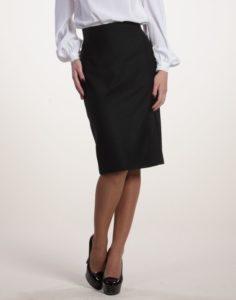 черная прямая юбка