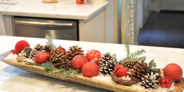Елочные украшения для новогоднего стола