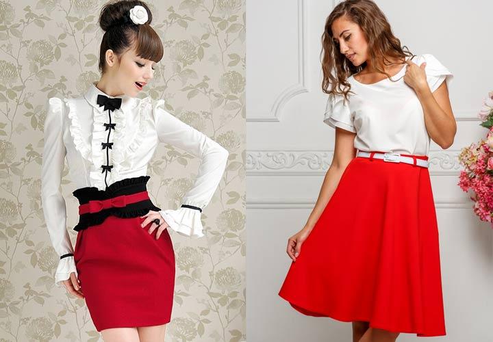 ретро красное и белое