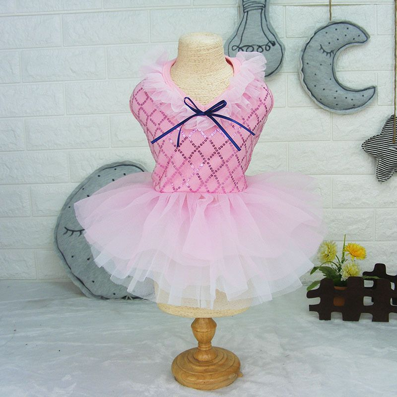 Розовое платье с юбкой туту