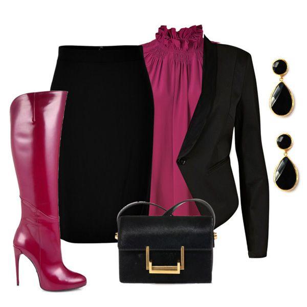 розовые сапоги с черным луком