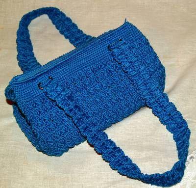 Ручки для сумки синие