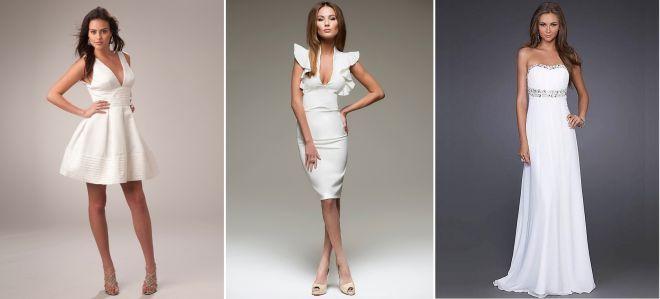 разные белые платья
