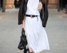 с че носить белое платье
