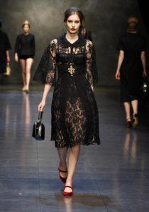черное платье гипюровое