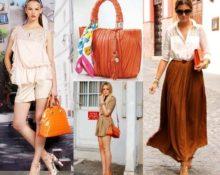 с чем носить сумку оранж