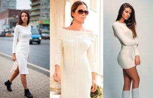 белое платье лапша