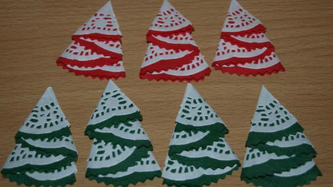 Салфетки елочки для новогоднего стола