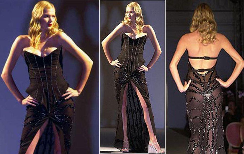 чёрное платье с бриллиантами