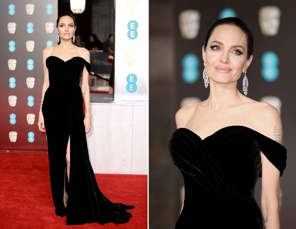 черное платье и бриллиантовые серьги
