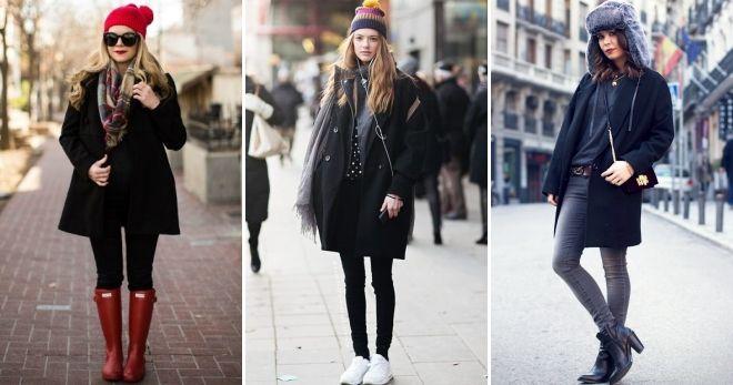 шапки к чёрному пальто