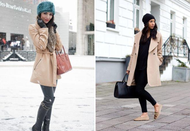 шапка под светлое пальто