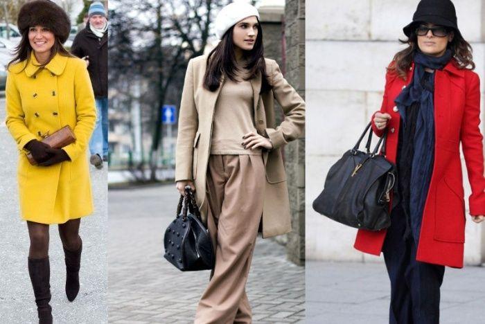 шапка и шарф под пальто