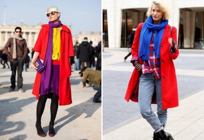 шарф под якрое пальто