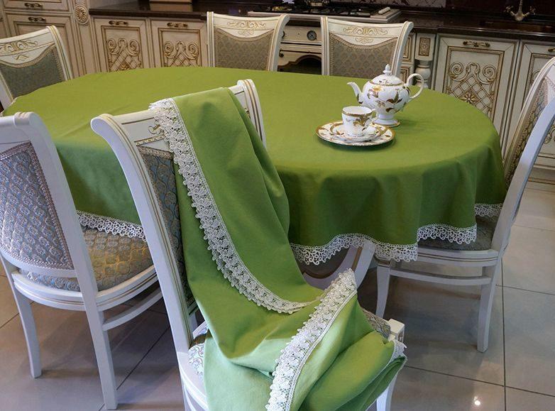 Скатерть для овального стола