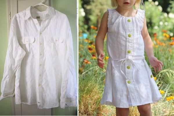 платье для девочки из рубашки