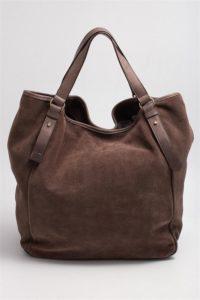 сумка-шоппер замшевая