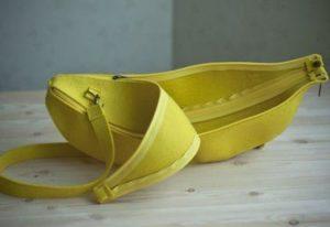 Желтая сумка бананка банан