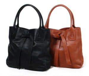 Кожаные сумки черная и рыжая