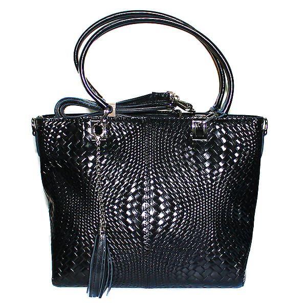 Черная сумка с лазерной обработкой