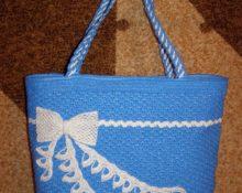 сумки из полиэтиленовых пакетов крючком