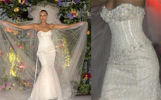 свадебное платье с брилииантами