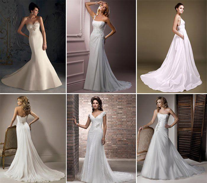 Свадебные платья разных форм