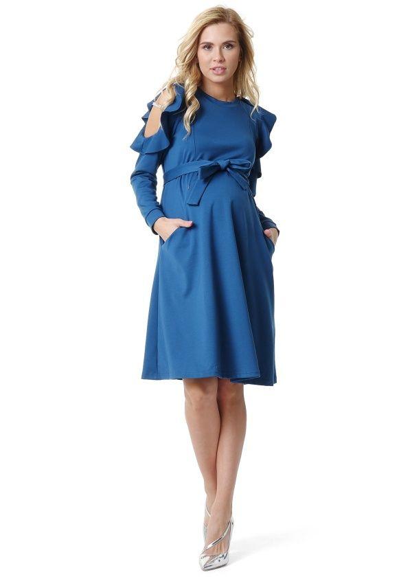 теплое платье ампир для беременной