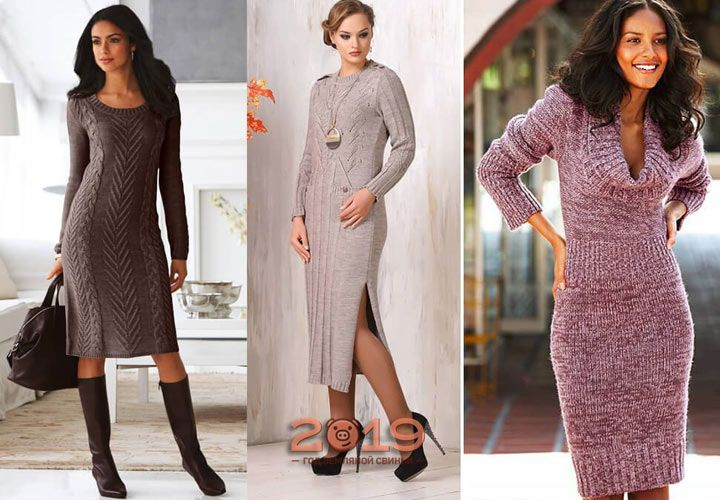Теплые платья на осень и зиму
