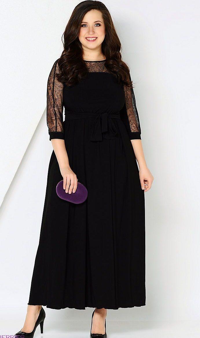 платье черное из трикотажа