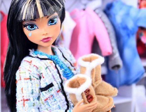 Угги для куклы бежевые