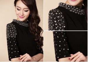 Черное платье украшаем