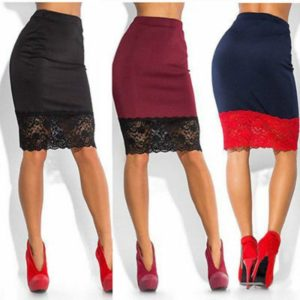 Украшаем юбку кружевами
