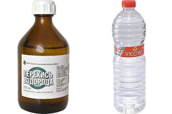 Уксус 9 процентов и нашатырный спирт