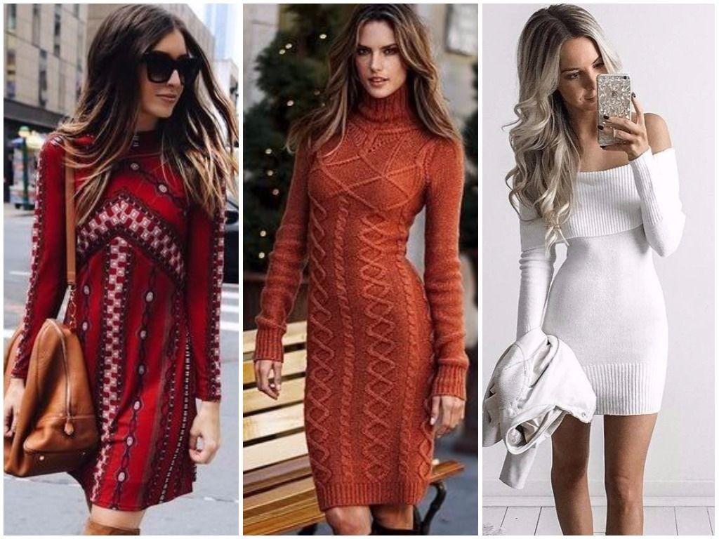 Осенние теплыве платья