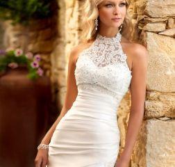 Свадебное платье приталенное