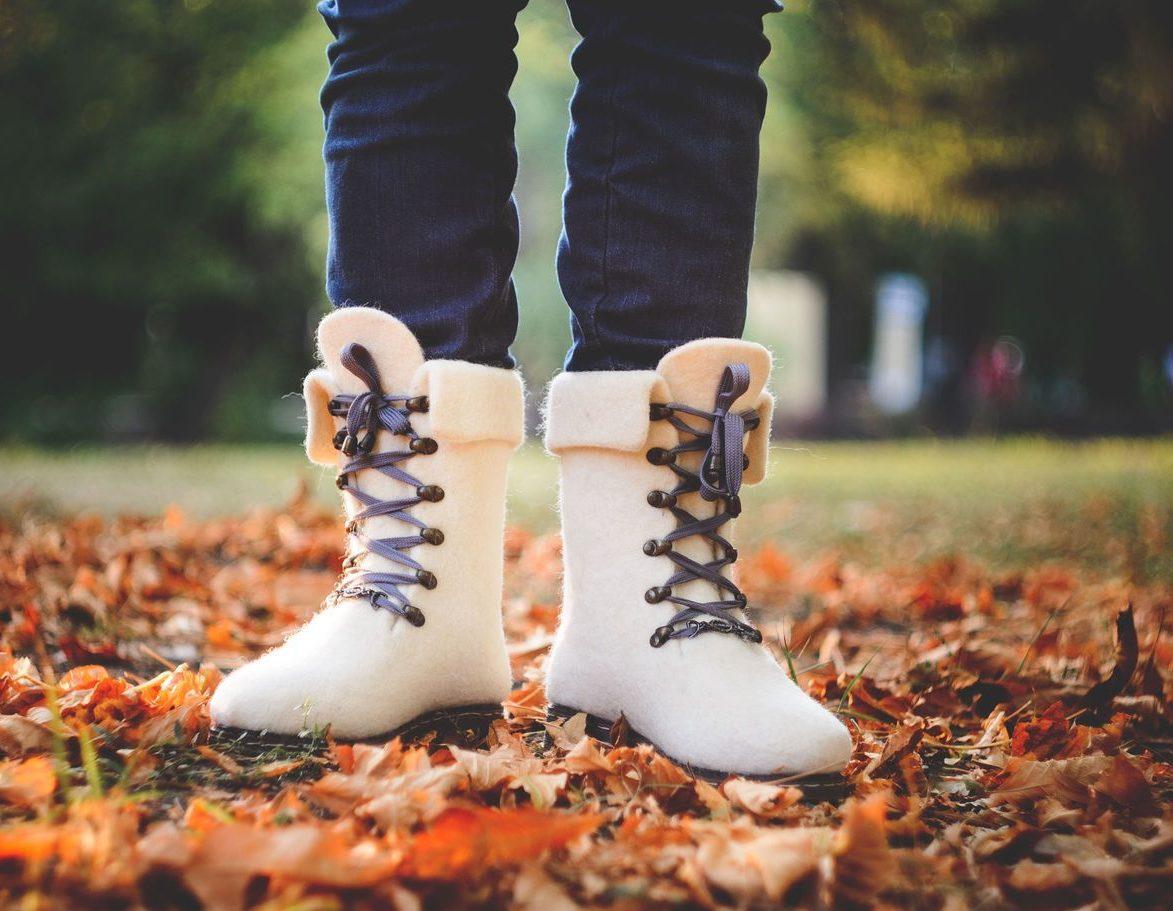 Валенки в виде ботинок