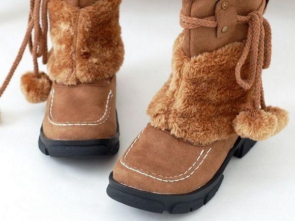 Ботинки на молнии валенки