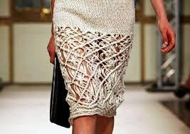 вязаная юбка карандаш