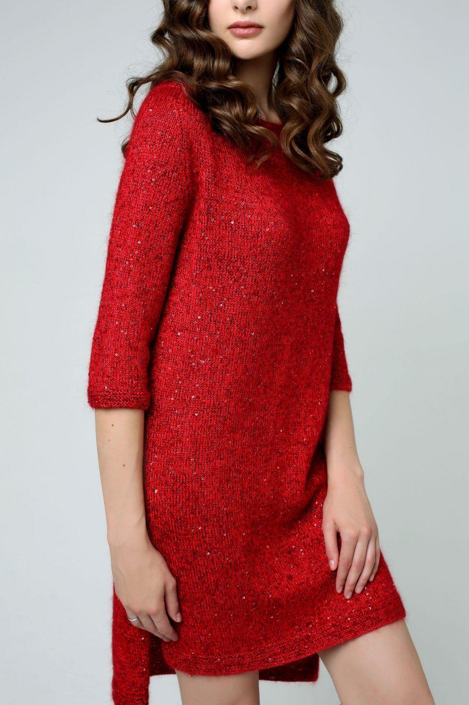 Вязаное стильное платье