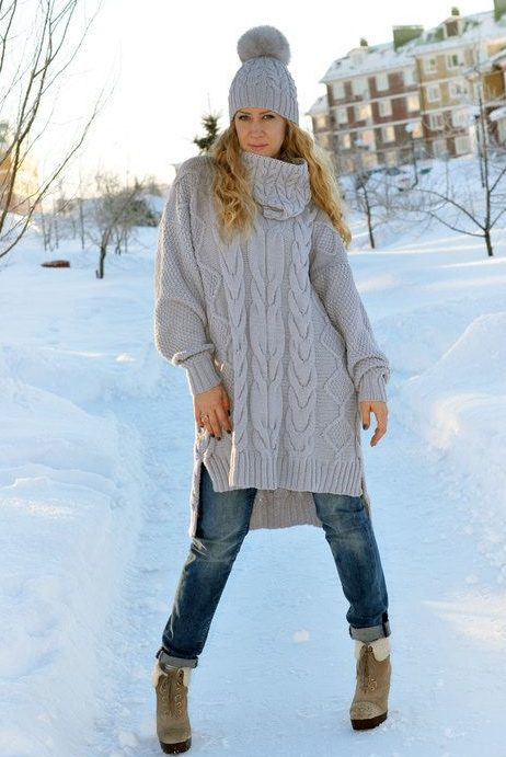 Платье вязаное туника