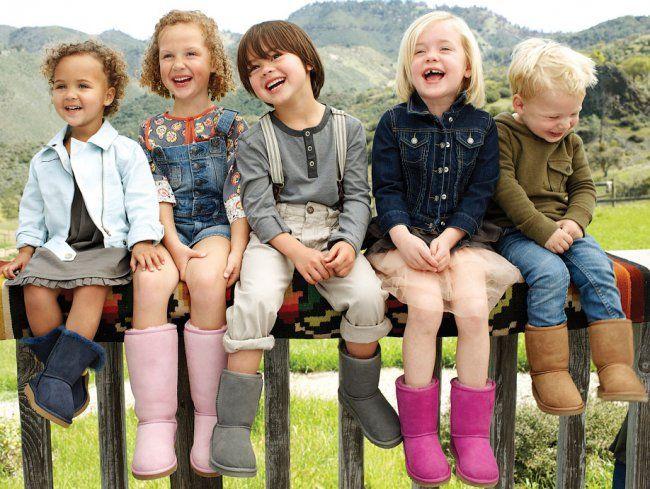 Детские цветные угги