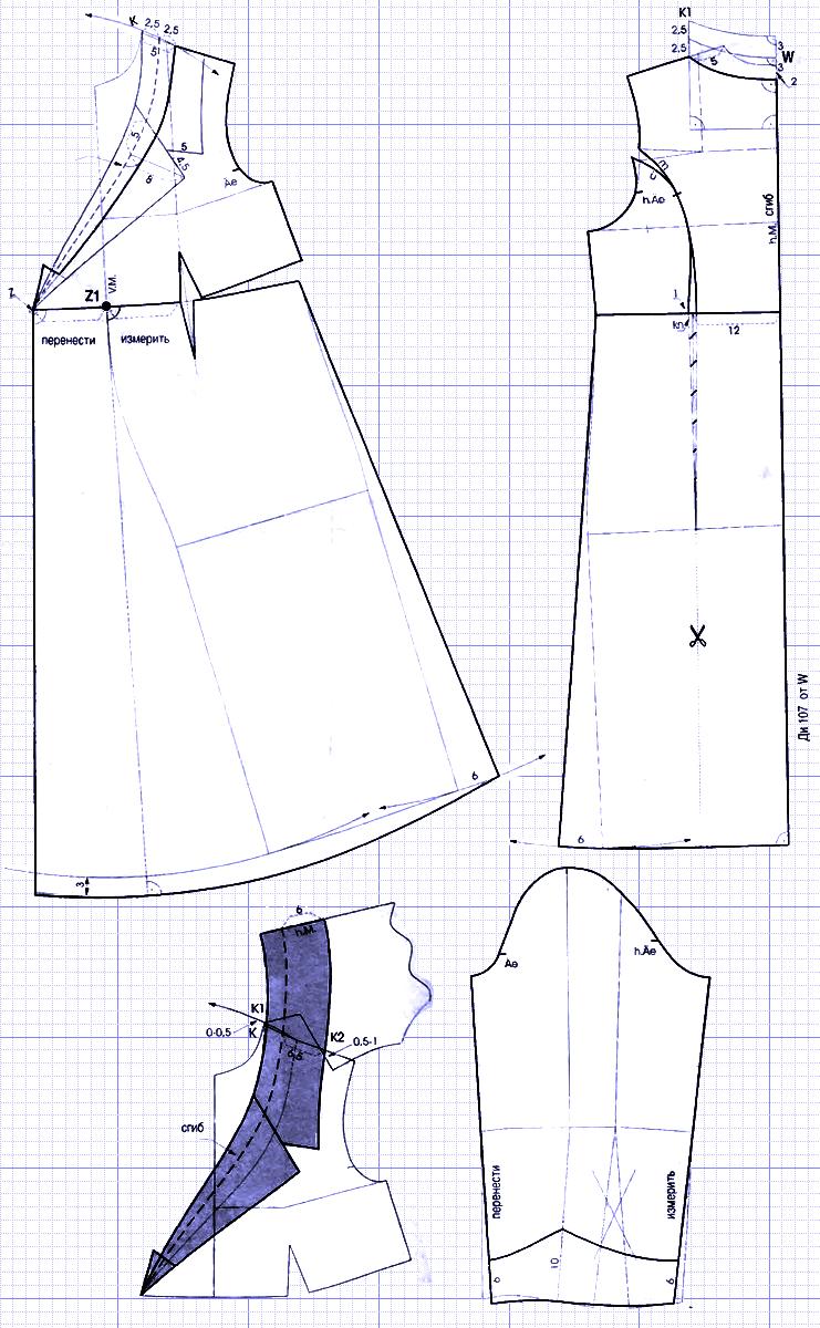 выкройка платья для беременных
