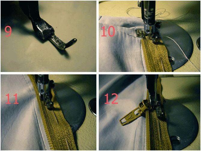 Пришиваем молнию на швейной машинке